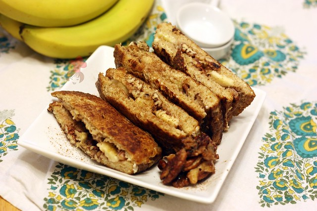 香蕉核桃法式土司  Banan french toast with walnut 1