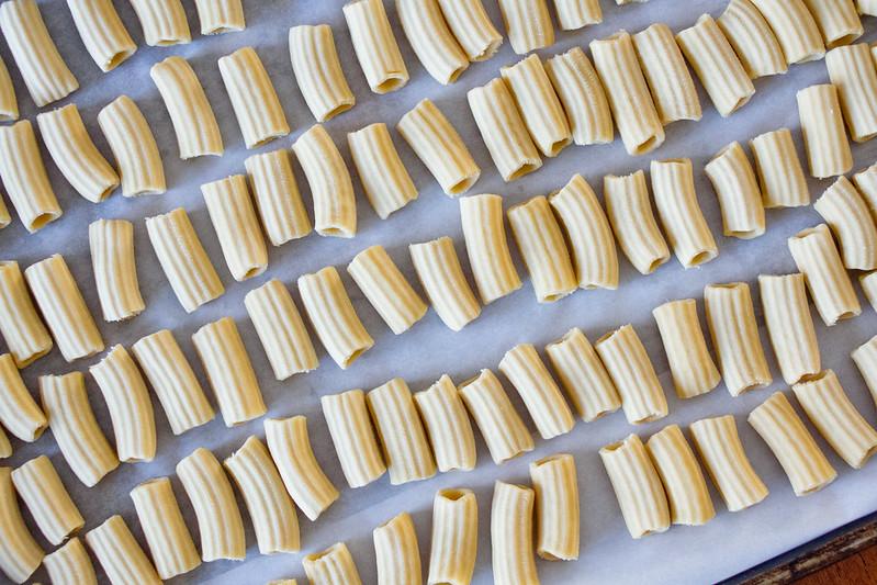 Homemade Rigatoni Pasta