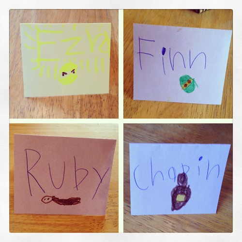Place cards for kids