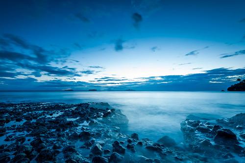 [フリー画像素材] 自然風景, 海, ビーチ・海岸, 青色・ブルー ID:201212312000