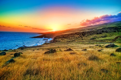 sunset hawaii maui hdr