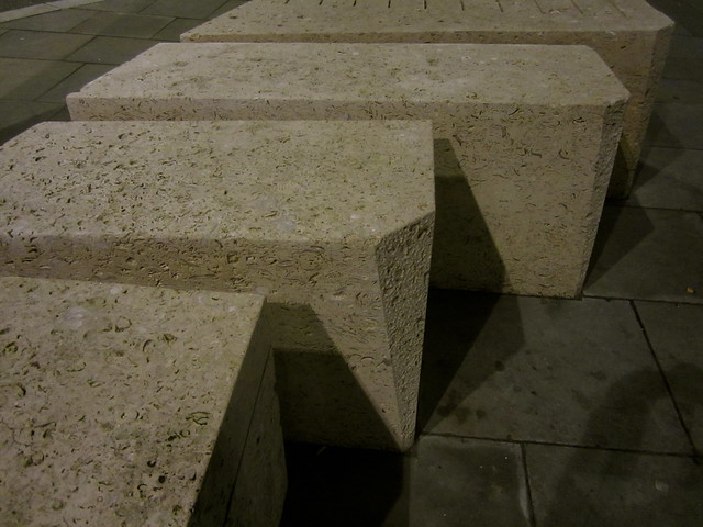 Brutalist Bench Near St. Pauls, London