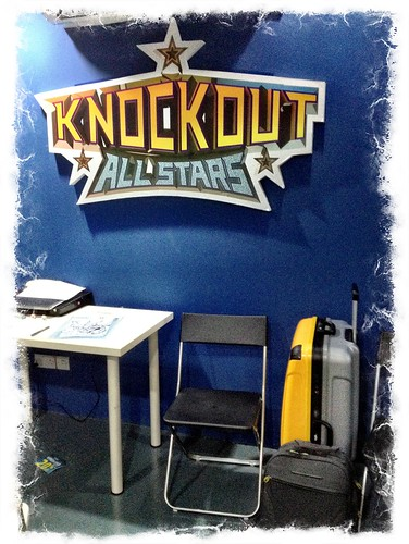 Filming for Okto Knockout Allstars 100th episode