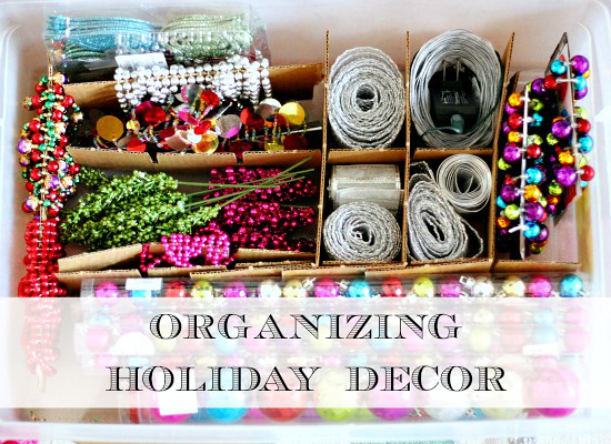 Organizing Holiday Decor