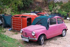 automobile, vehicle, subcompact car, city car, zastava 750, antique car, land vehicle,