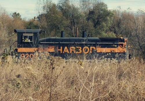 Southbound Indiana Harbor Belt Railroad transfer train.  Alsip Illinois.  Late October 1990. by Eddie from Chicago