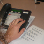 Telephone voting interface