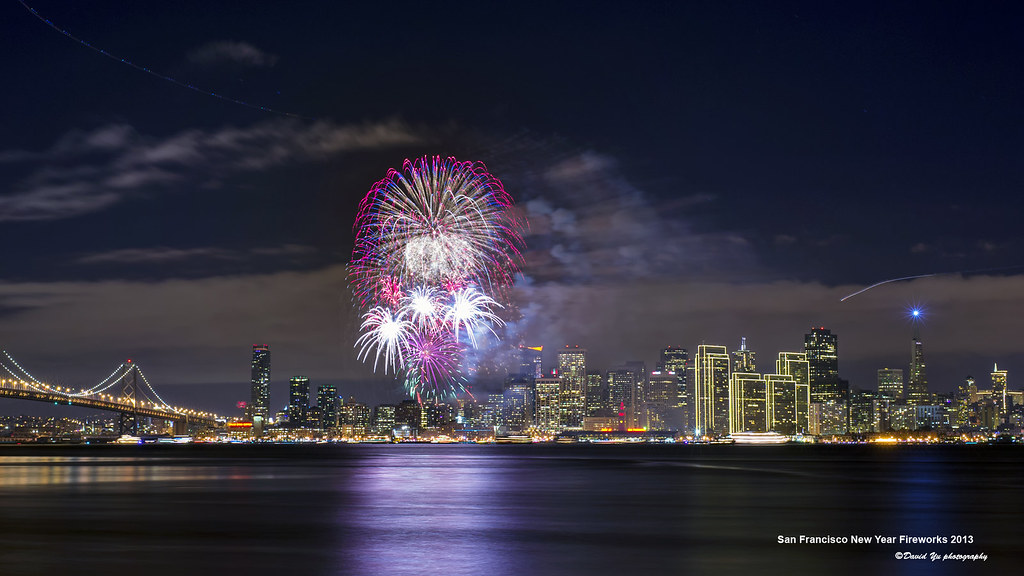San Francisco New Year Fireworks 2013