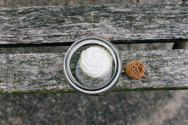 cupcake in a jar.
