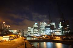 London Docklands, Canary Wharf night