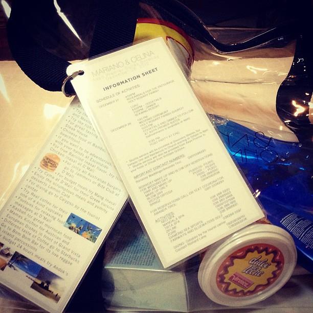 My welcome bag and schedule of activities #boracay #wedding #travel #travelgram #igdaily #instadaily #instagram #instagood #instamood #instacool #picoftheday #photooftheday #bestoftheday #webstagram #igersmanila #igmanila #igphilippines