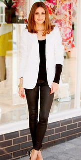 Olivia Palermo White Blazer Celebrity Style Women's Fashion