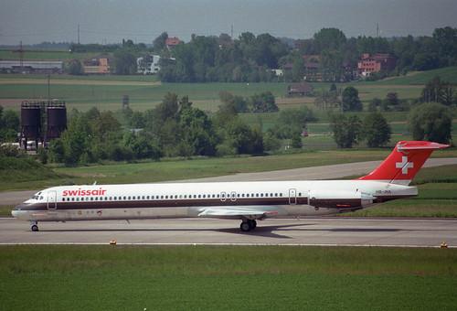 Swissair MD-81; HB-INX@ZRH;25.05.1995