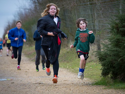 Smiling parkrunners