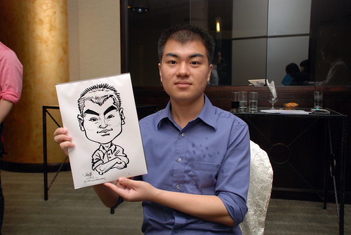 caricature live sketching for NUS - 1