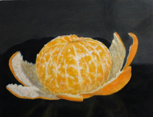 Unwrapped-mandarin orange by Sid's art