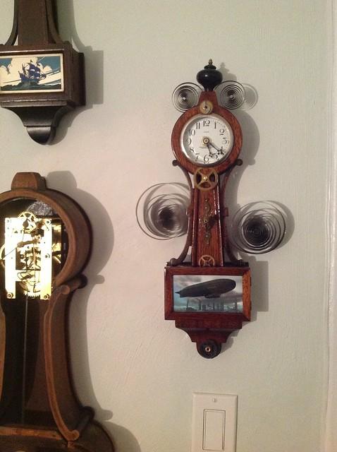 Valkyrie airship clock