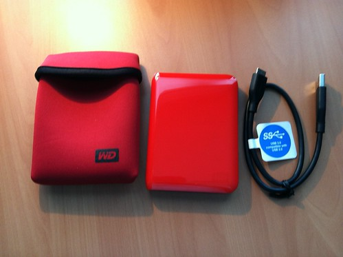 Red Portable Drive by midgefrazel