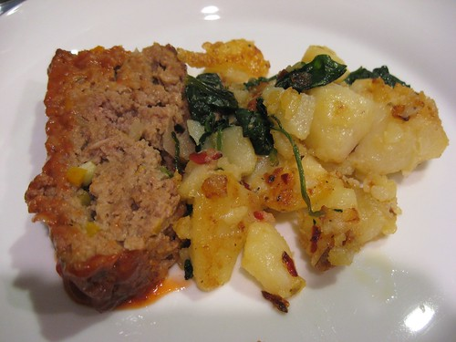 Local ingredients: meatloaf and bubble and squeak