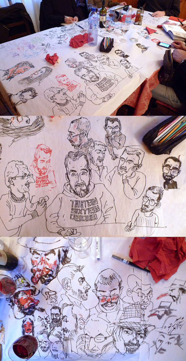38th sketchcrawl tablecloth