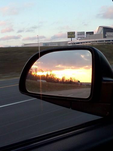 cameraphone sunset mirror interstate 75 daytondailynews 21365 flickrandroidapp:filter=none kkfrombb jan2013 365moments2013 21jan2013