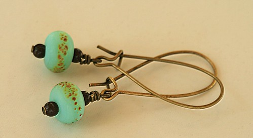 Sandy Shore Lampwork Earrings