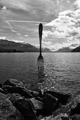 The FORK of Vevey in the Lake of Geneva