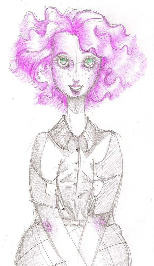 Agrandissement filles cheveux roses