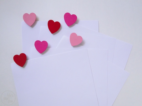 Wood Heart Clips 10