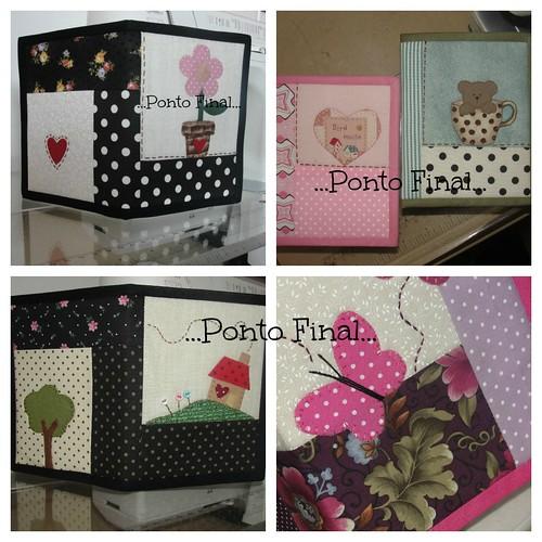 ...Mais capinhas para caderneta... by Ponto Final - Patchwork