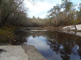 Looking west (upstream)