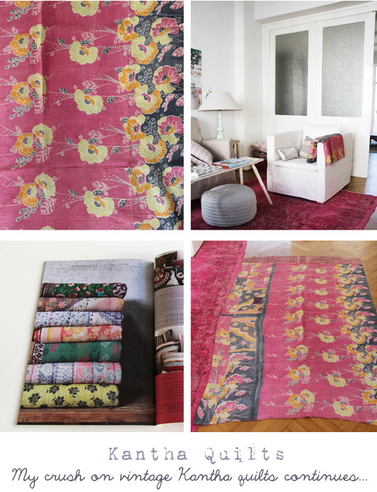 Kantha quilts from au maison decor8 for Au maison quilts