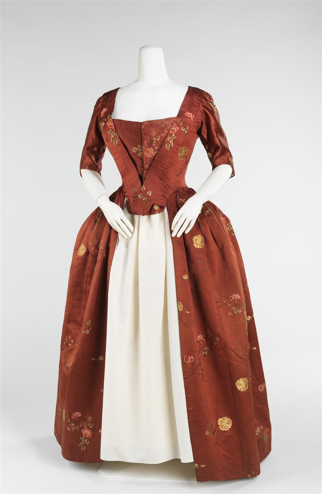 1750. Robe à l'Anglaise. British. Silk.