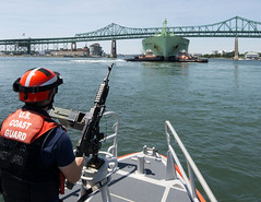 Coast Guard Station Boston on security patrol in Boston Harbor