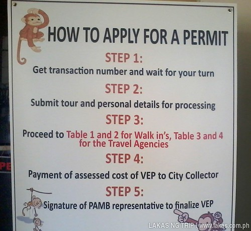 Steps on how to apply for a permit to the Puerto Princesa Underground River