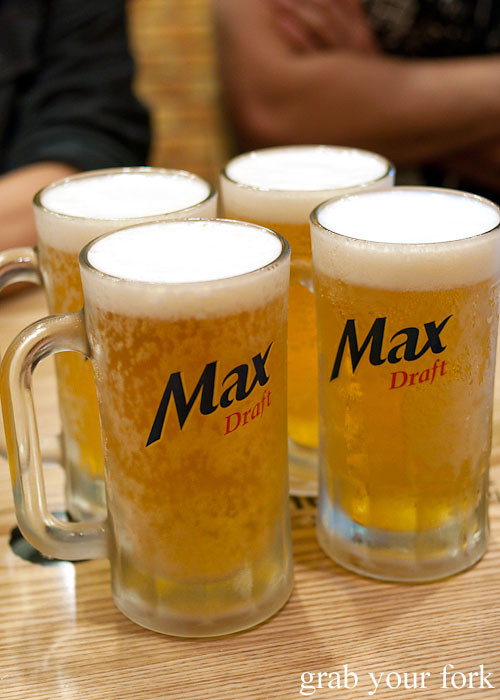 max draft tap beer at naruone one pitt street sydney