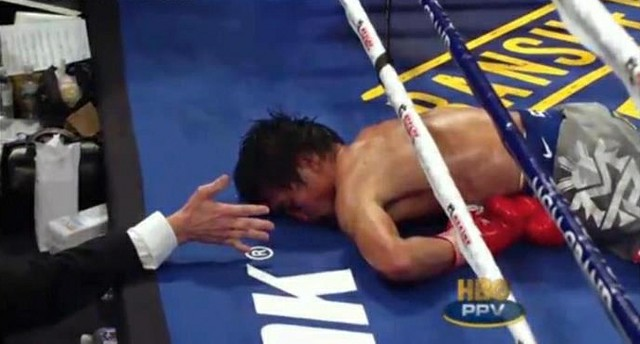 Pacquiao down