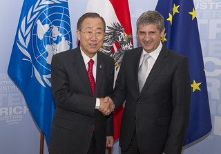UN Secretary-General visiting  Vienna in November 2012