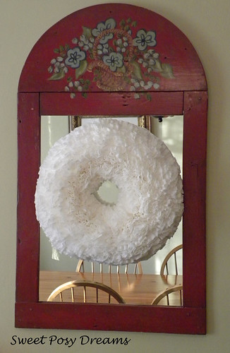 filter wreath on mirror