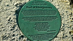 Photo of John Wordsworth and Earl of Abergavenny  bronze plaque