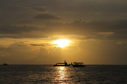 Sunset at Tonle Sap Lake, Siem Reap, Cambodia