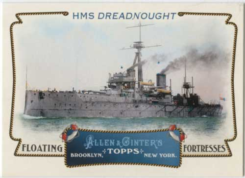 2011 Allen & Ginter Floating Fortresses HMS Dreadnought