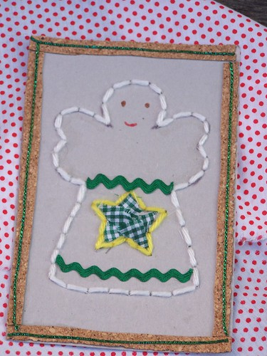 Christmas Angel Lacing Card