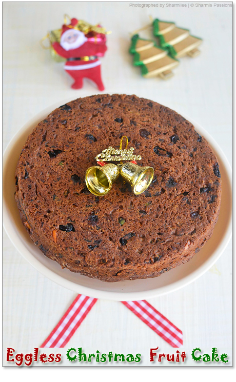 Eggless Christmas Fruit Cake Recipee