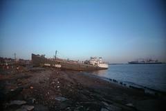 John B. Caddell, run aground