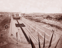 Ụ tàu Ba Son 1886 - The dry dock under construction in 1886