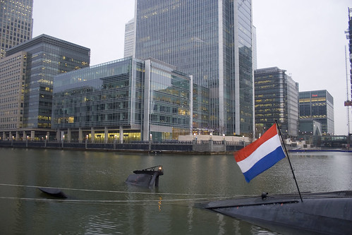 HNLMS Bruinvis in Canary Wharf