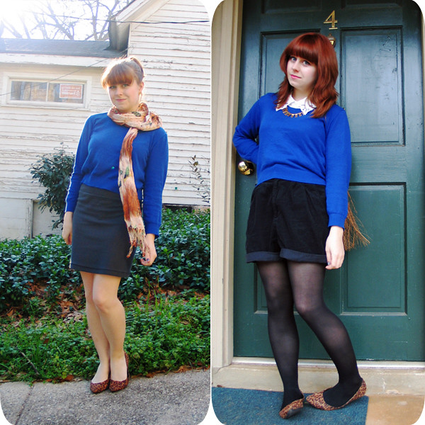 Remix: Cropped Blue Sweater