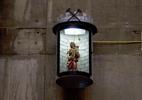 St Barbara at the Crossrail Portal at Plumstead