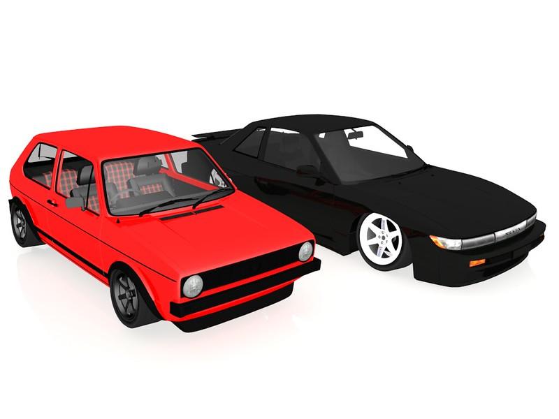 Nissan Silvia S13 Render 8288611043_c42f725376_c